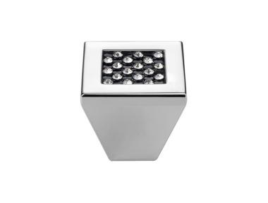 Mobile Linea Cali Bouton Crystal Mesh noir PB avec Chrome Swarowski® Blacks poli