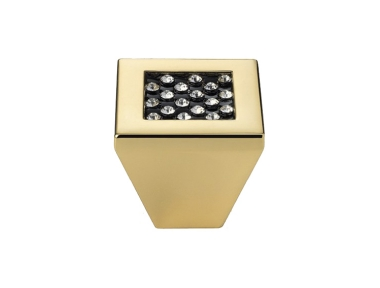 Mobile Linea Cali Bouton Crystal Mesh noir PB Swarowski® d'or pur