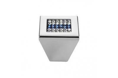 Mobile Linea Cali Bouton Crystal Mesh Bleu PB avec Chrome Swarowski® bleu poli