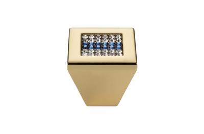 Mobile Linea Cali Bouton Crystal Mesh Bleu PB avec Swarowski® Blu Oro Zecchino