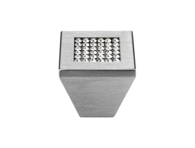 Pommeau Mobile Line Cali Mesh cristal PB avec cristaux Swarowski® Satin Chrome