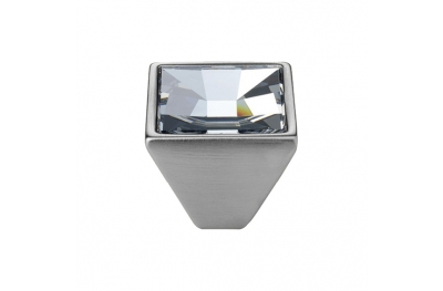 Mobile Linea Cali Mirror PB bouton avec cristaux Swarowski® Satin Chrome