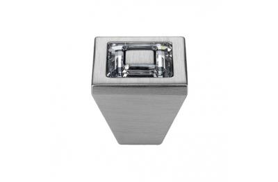 Bouton Linea Cali mobile Bague cristal PB avec cristaux Swarowski® Satin Chrome