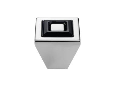 Bouton Linea Cali mobile Anneau cristal PB avec Black Swarowski® et Matt White