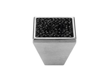 Mobile Linea Cali Rocks PB bouton avec cristaux noirs Swarowski® Chrome Satiné