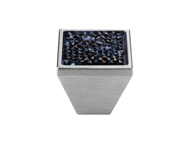Mobile Linea Cali Rocks bouton PB avec cristaux bleu Swarowski® Satin Chrome