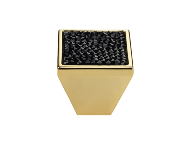 Mobile Linea Cali Rocks PB bouton avec cristaux noirs Swarowski® Oro Zecchino