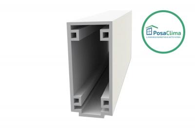 Petit profil inférieur en boîte en PVC extrudé PosaClima
