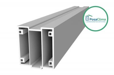 Profil inférieur en PVC pour contre-châssis thermique Serramenti Klima PosaClima