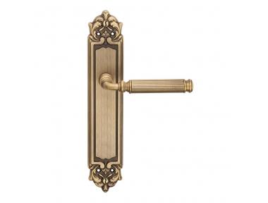 Epoque forme série Rania Poignée de porte sur la plaque Frosio Bortolo Slotted