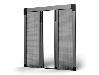 Ouverture Centrale 04 Moustiquaire Plissée SharkNet pour Balcons et Portes-Fenêtres