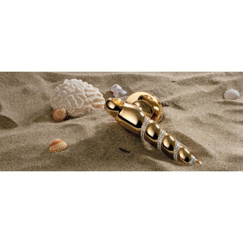 Shell Mesh Plaqué Or Poignée de Porte sur Rosette Linea Calì Crystal