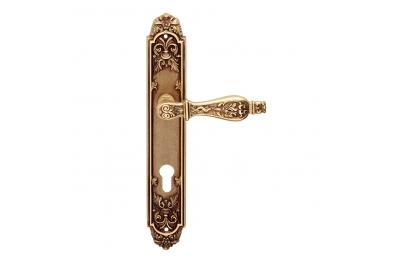 Epoque forme série Syracuse Poignée de porte sur la plaque Frosio Bortolo Made in Italy
