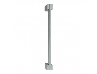 Poignée de porte mince sur supports droits Linea Calì de style moderne