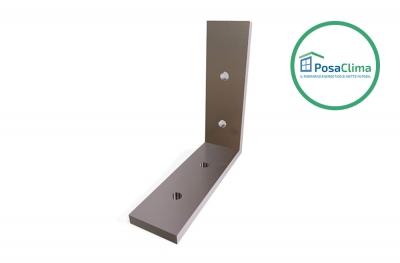 Support d'angle en aluminium 80x80 mm pour contre-châssis Klima Pro