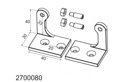Rotule adaptateur pour les applications de palettes WAY Mingardi