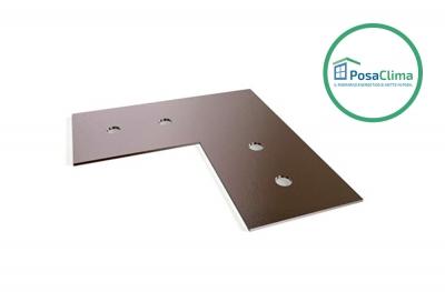 Plaque d'alignement en acier galvanisé pour contre-châssis Klima Pro PosaClima