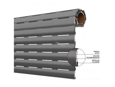 Obturateur isolé en PVC et aluminium AriaLuceTherm, espace à l'air et à la lumière