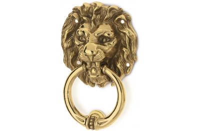 Tête de Lion Heurtoir pour Portes en Laiton PFS Pasini