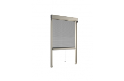 Moustiquaire Bettio Sonia ensemble Cassonetto 60mm Printemps traditionnel vertical
