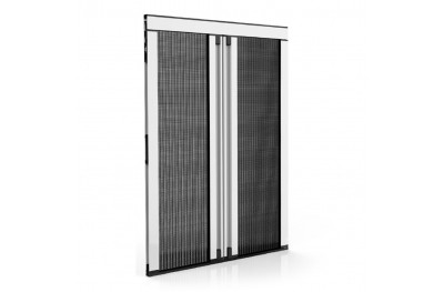 Moustiquaire plissée latérale épaisseur 18 mm pour porte-fenêtre 2 portes plissées Zanzar Sistem