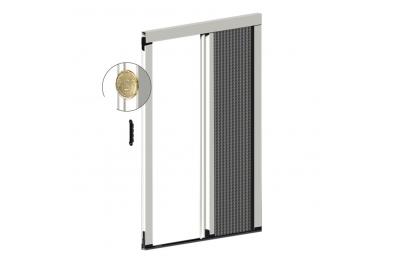 Moustiquaire plissée latérale épaisseur 22 mm pour porte balcon 1 porte plissée Zanzar Sistem