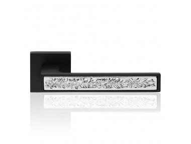 Zen Fusion Porte Matt Black Poignée sur Rosette avec système de montage ultra-Clic-Clac Linea Cali Conception